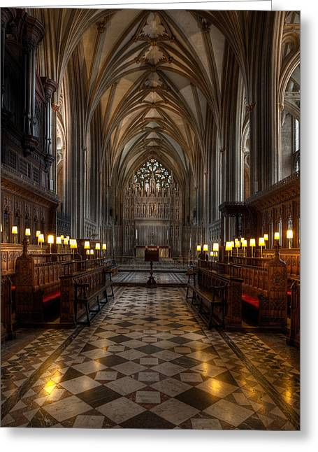 Sightseeing Digital Greeting Cards - The Altar Greeting Card by Adrian Evans