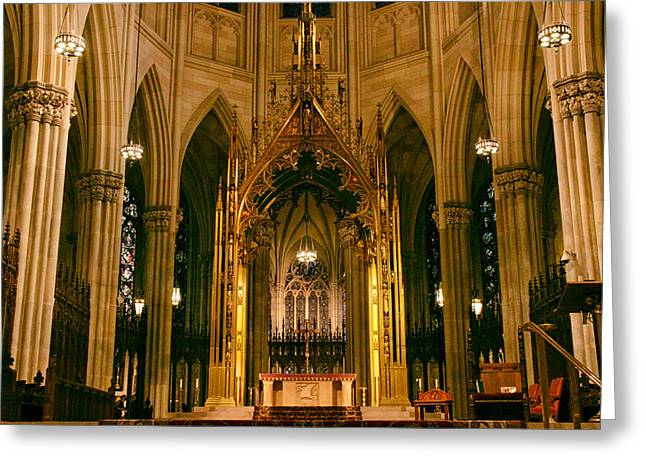 The Altar Of St. Patrick's   Greeting Card by Jessica Jenney