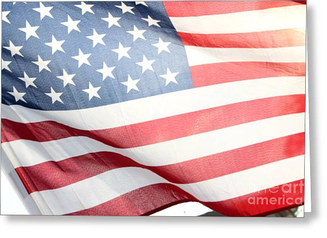 Flag Of Usa Greeting Cards - The American Flag Greeting Card by Amy Steeples