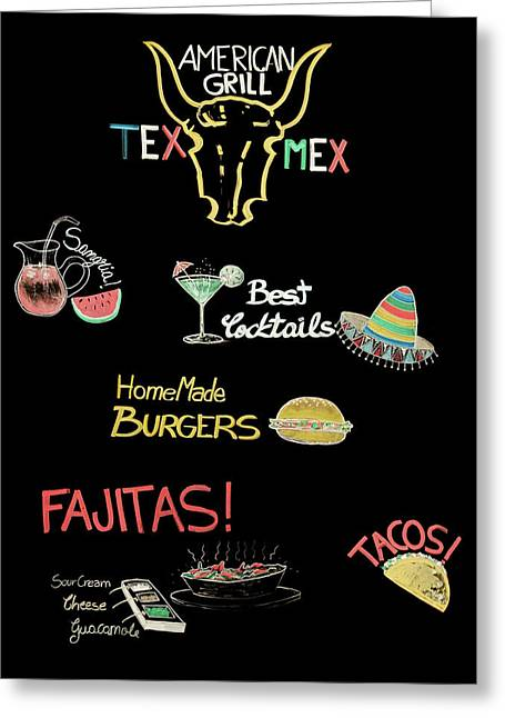 The American Grill Greeting Card by Mark Rogan