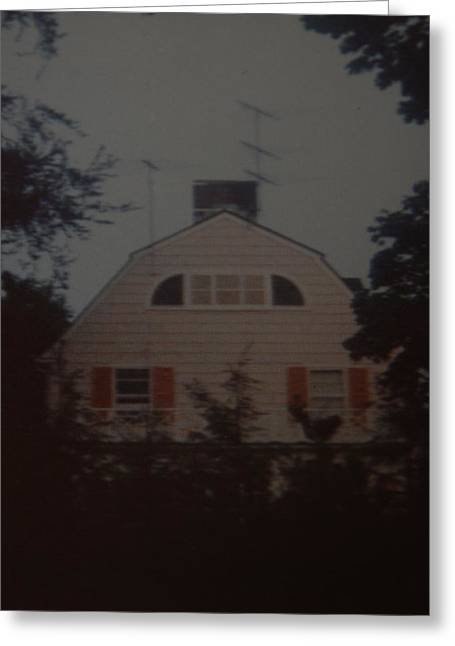 The Amityville Horror Greeting Card by Rob Hans