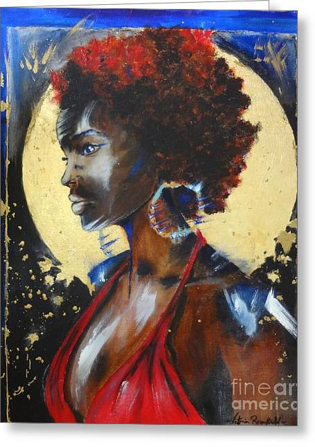 African-american Greeting Cards - The ancestors... Greeting Card by Viktoria Rosenfield