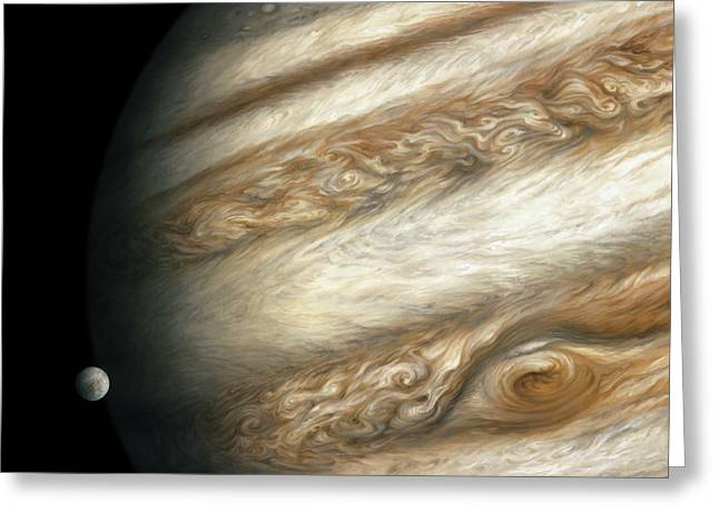 The Ancient Dance Of Europa And Jupiter Greeting Card by Lucy West