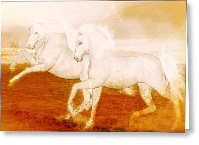 The Andalusians Greeting Card by Valerie Anne Kelly