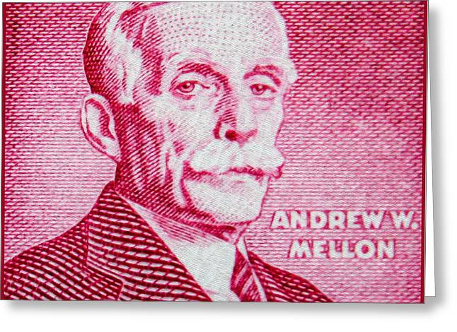 The Andrew Mellon Stamp Greeting Card by Lanjee Chee