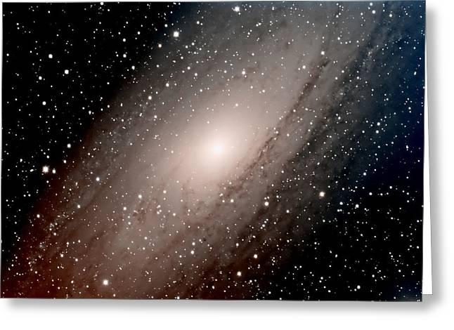 The Andromeda Galaxy Close  Up Greeting Card by Jim DeLillo