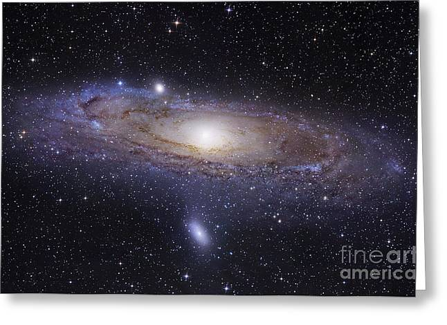 Messy Greeting Cards - The Andromeda Galaxy Greeting Card by Robert Gendler