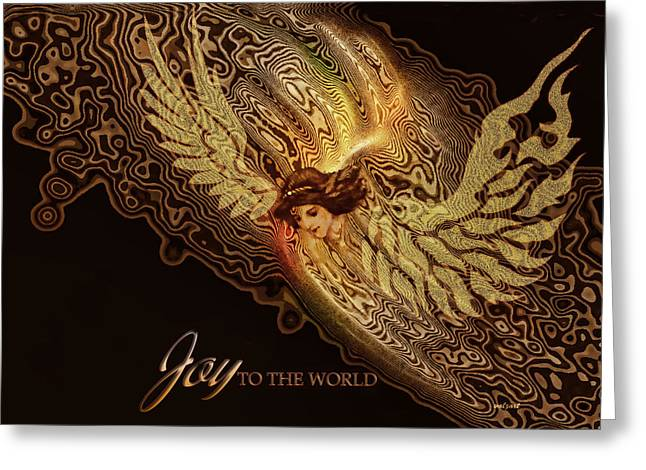 Kelly Greeting Cards - The Angel cometh Greeting Card by Valerie Anne Kelly