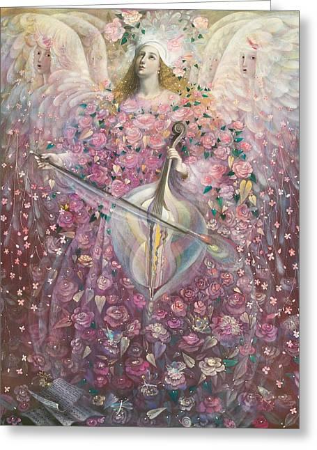 The Angel Of Love Greeting Card by Annael Anelia Pavlova