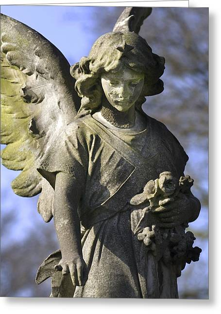 Sorrow Greeting Cards - The Angels Blessing Greeting Card by Marc Huebner