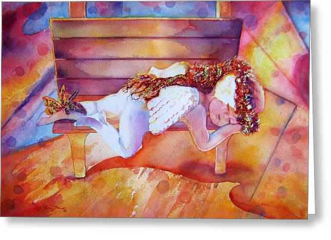 The Angel's Nap Greeting Card by Estela Robles
