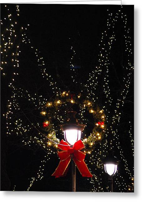 Streetlight Greeting Cards - The Angels of Light Greeting Card by Peter  McIntosh
