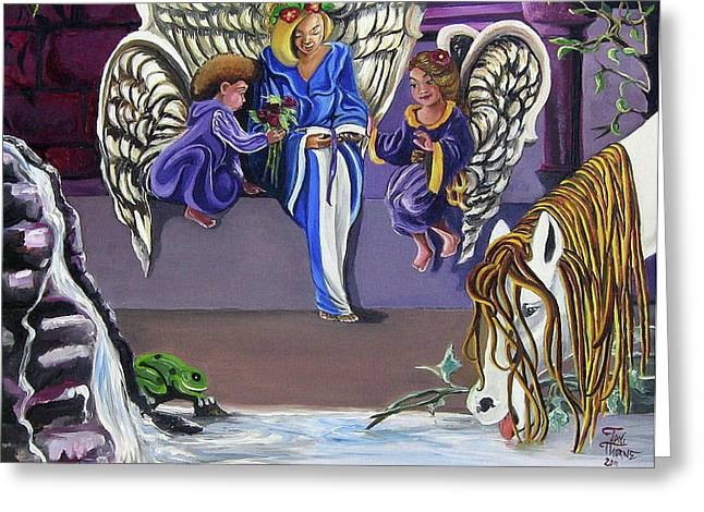 The Angels Greeting Card by Toni  Thorne