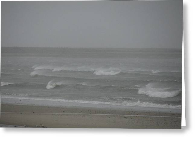 Best Sellers -  - Storm Clouds Cape Cod Greeting Cards - The Angry Sea Greeting Card by Brian Mazzoli