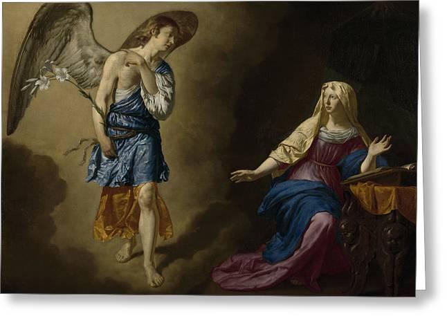 The Annunciation Greeting Card by Adriaen van de Velde