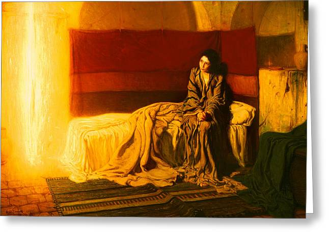 African American Artist Greeting Cards - The Annunciation Greeting Card by Henry Ossawa Tanner