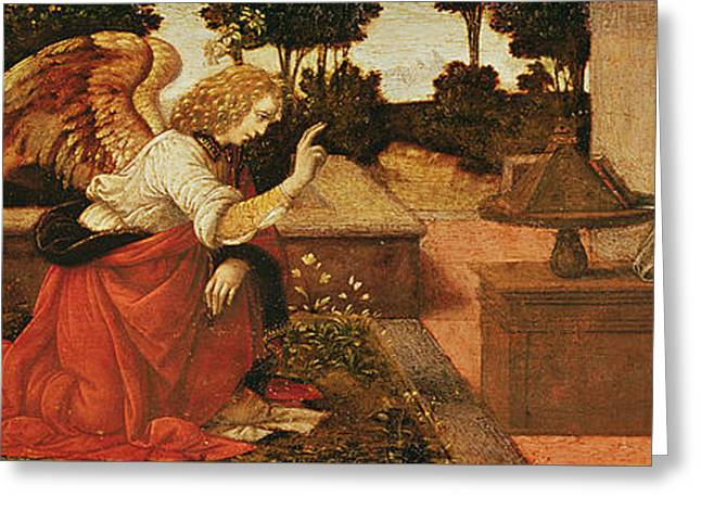 The Annunciation Greeting Card by Lorenzo di Credi