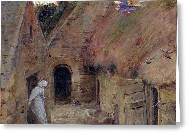 The Annunciation Greeting Card by Luc Oliver Merson