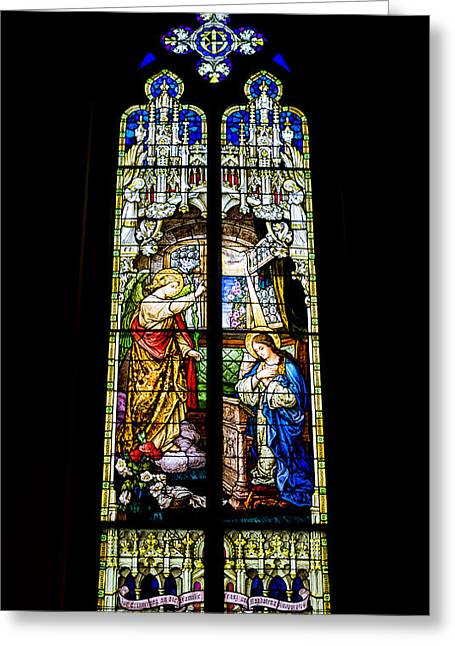 The Annunciation - St Mary's Church Greeting Card by Stephen Stookey