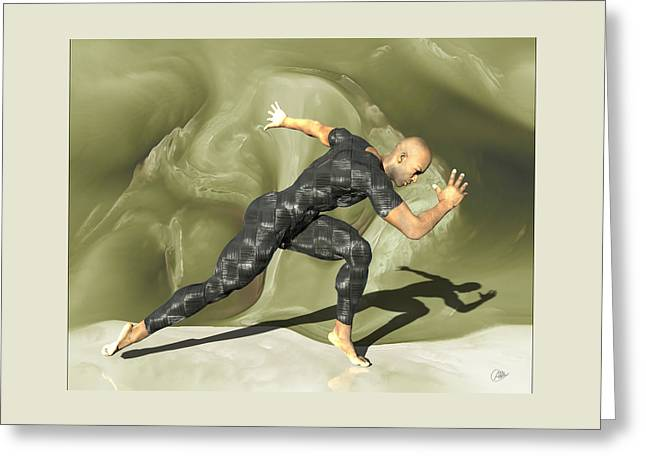 Runner Mixed Media Greeting Cards - The anonymous broker Greeting Card by Joaquin Abella