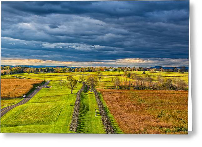 Civil War Battle Site Greeting Cards - The Antietam Battlefield Greeting Card by John Bailey