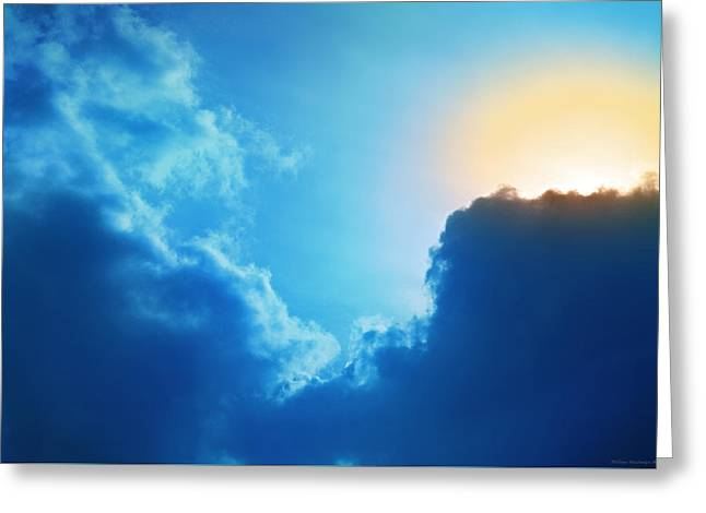 Himmel Greeting Cards - The apparition Greeting Card by Philippe Meisburger