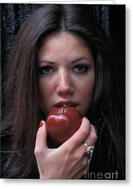 The Apple Greeting Card by Marc Bittan