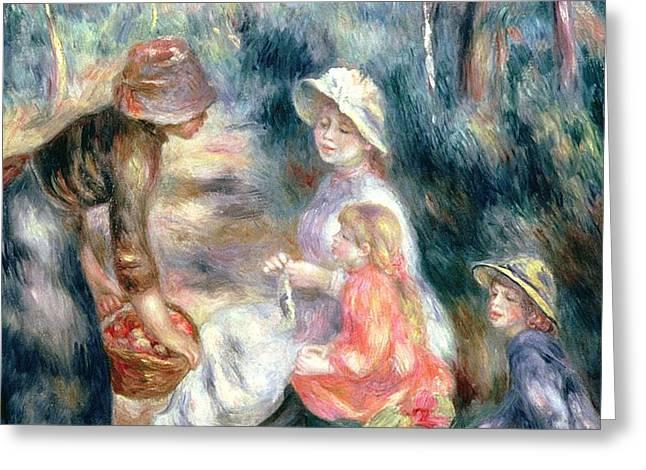 The Apple-Seller Greeting Card by Pierre Auguste Renoir