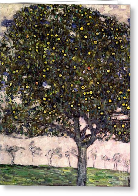 Orchard Greeting Cards - The Apple Tree II Greeting Card by Gustav Klimt