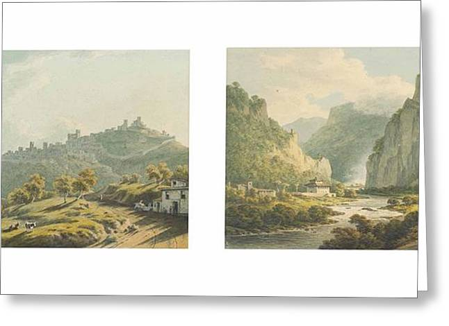 The Approach To The Cascade Of Terni Greeting Card by John Warwick Smith