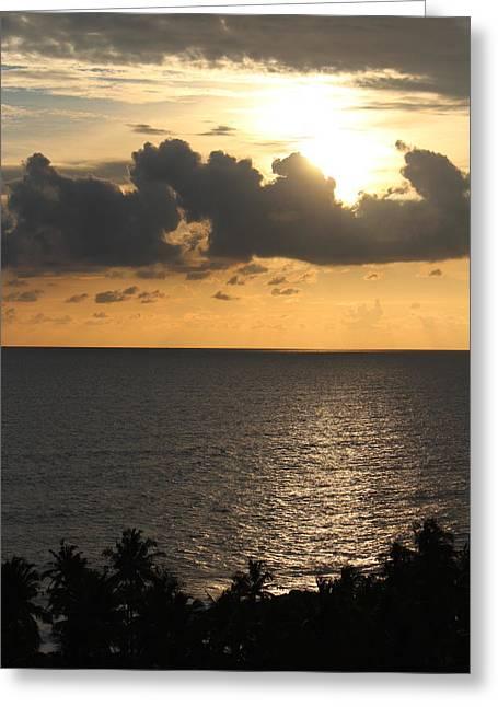 The Arabian Sea, Amritapuri Greeting Card by Jennifer Mazzucco
