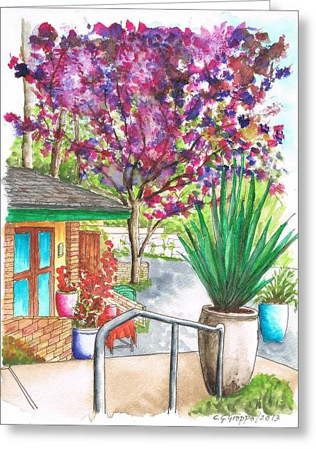 Acuarelas Greeting Cards - The Arboretum Gift Shop in Arcadia-California Greeting Card by Carlos G Groppa