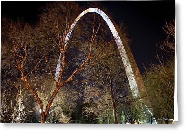 The Arch 3 St Louis Missouri Gateway Arch Art Greeting Card by Reid Callaway
