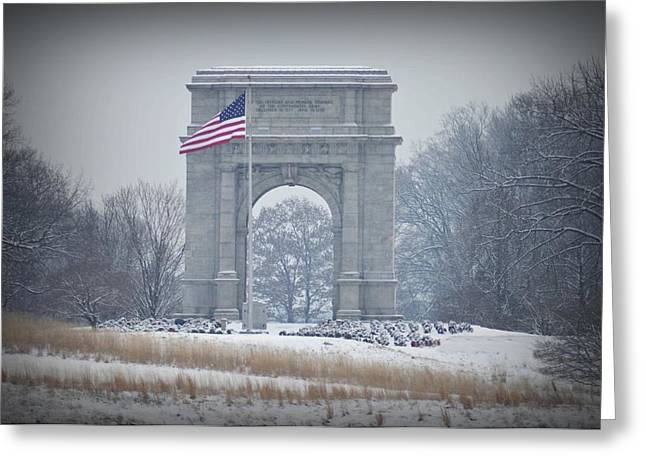 Arches National Park Digital Greeting Cards - The Arch at Valley Forge Greeting Card by Bill Cannon