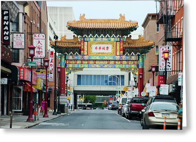 The Arch - Philadelphia's Chinatown Greeting Card by Bill Cannon