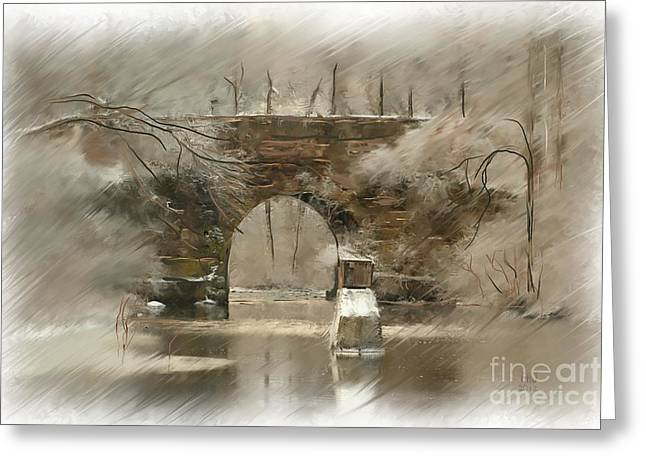 The Arched Stone Bridge Greeting Card by Earl Jackson