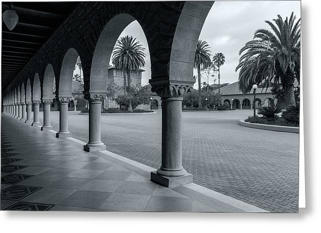 Downtown San Francisco Greeting Cards - The Arches Of Stanford Greeting Card by Jonathan Nguyen