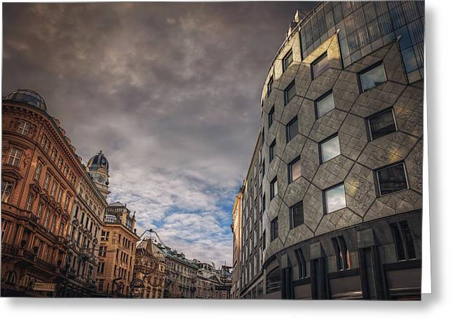 The Architecture Of Vienna  Greeting Card by Carol Japp