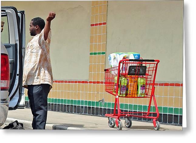 Shopping Cart Greeting Cards - The Argument Greeting Card by Joe Jake Pratt