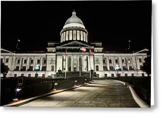 Arkansas Greeting Cards - The Arkansas State Capitol Building Greeting Card by JC Findley