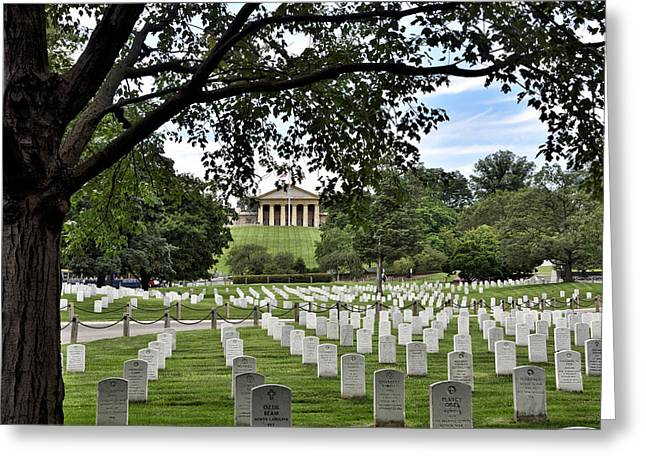 Arlington Greeting Cards - The Arlington National Cemetery Greeting Card by Brendan Reals