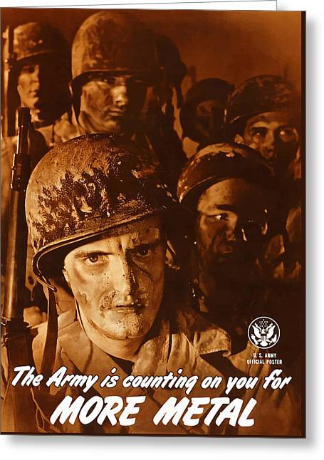 The Army Is Counting On You  Greeting Card by War Is Hell Store