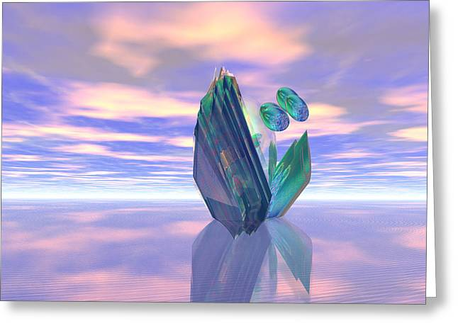 Visionary Artist Greeting Cards - The Arrival of Visitors on Kepler-296e Greeting Card by Bob  Eige