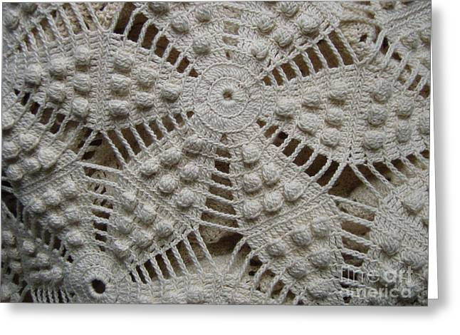 The Art Of Crochet  Greeting Card by Kristine Nora