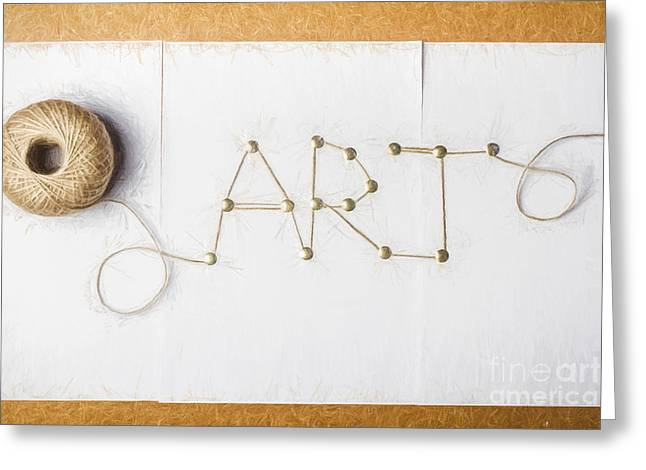 String Art Greeting Cards - The art of fashion design Greeting Card by Ryan Jorgensen