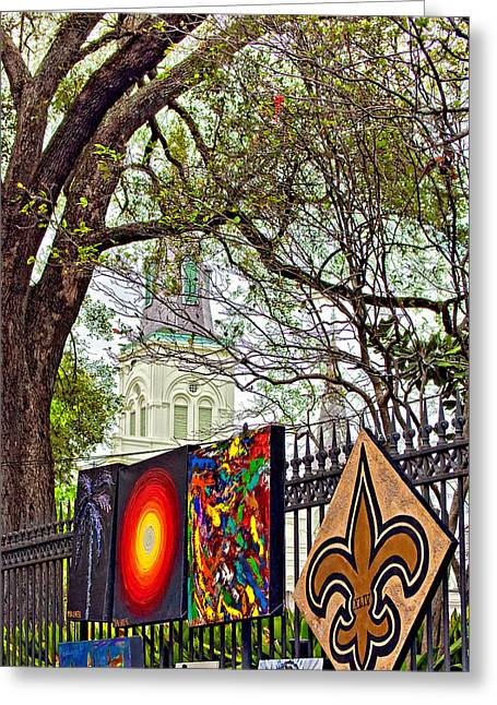 The Art Of Jackson Square Greeting Card by Steve Harrington