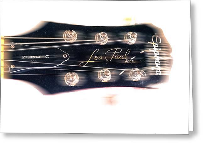 Les Paul Epiphone  Greeting Card by Steven  Digman