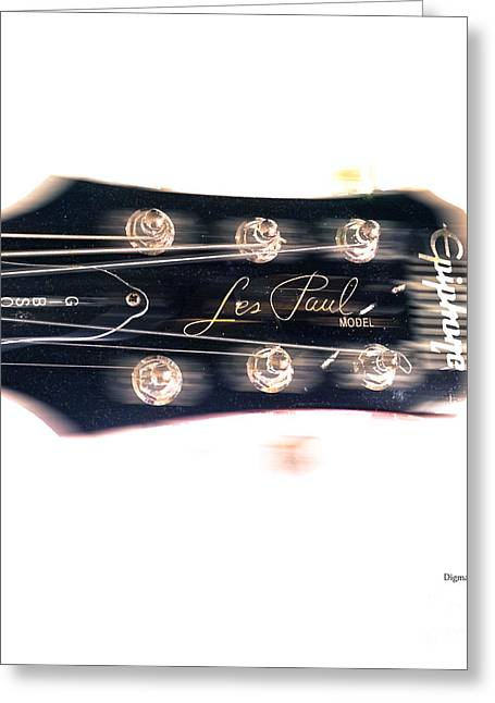 Epiphone Guitars Greeting Cards - Les Paul Epiphone  Greeting Card by Steven  Digman