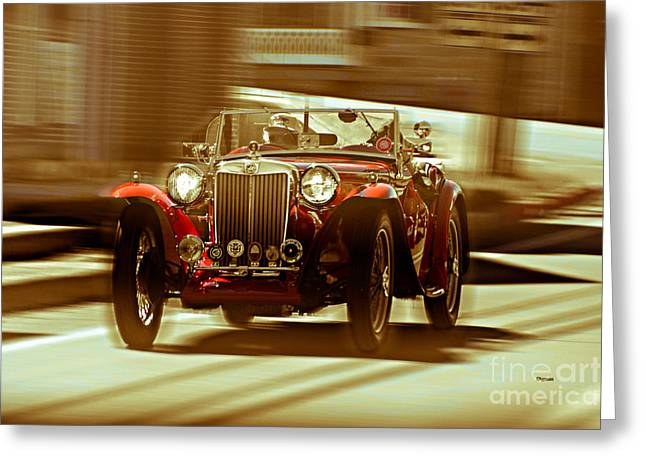 Vintage Mg Greeting Cards - The Art of Streets  Greeting Card by Steven  Digman