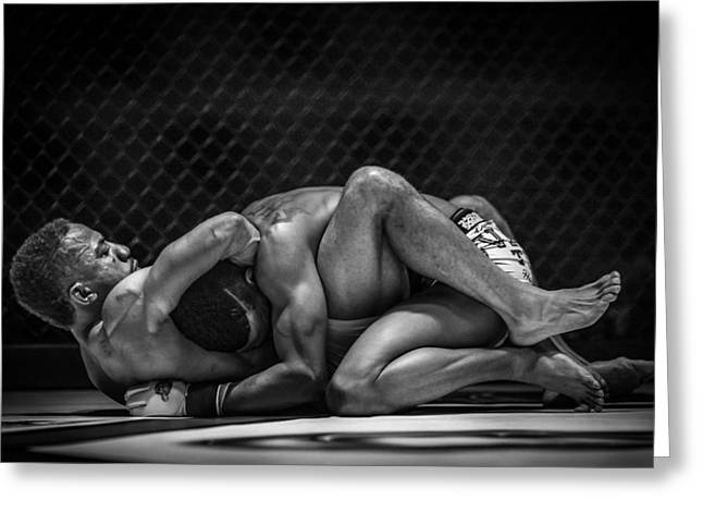 Fighters Greeting Cards - The Art Of The Fight Greeting Card by Ray Congrove
